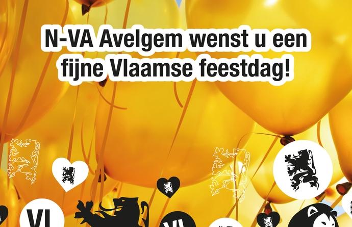 Een fijne Vlaamse feestdag gewenst vanwege N-VA Avelgem