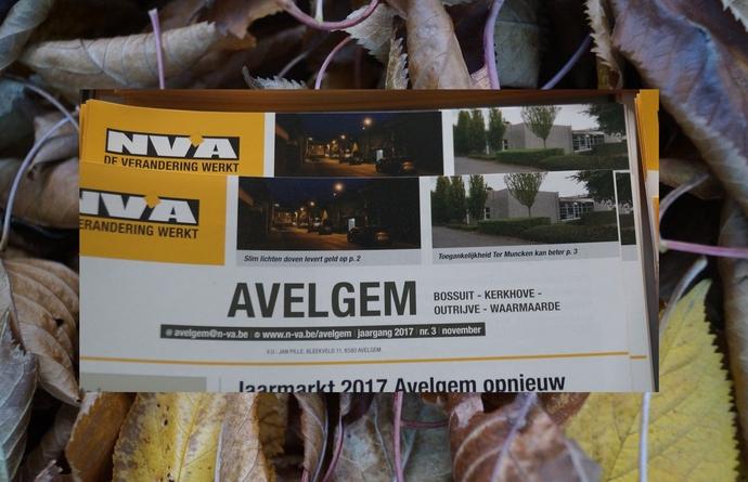 N-VA Avelgem - Huis aan huis blad editie november 2017