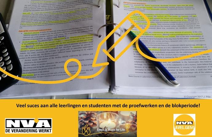 N-VA Avelgem denkt aan de leerlingen en studenten!