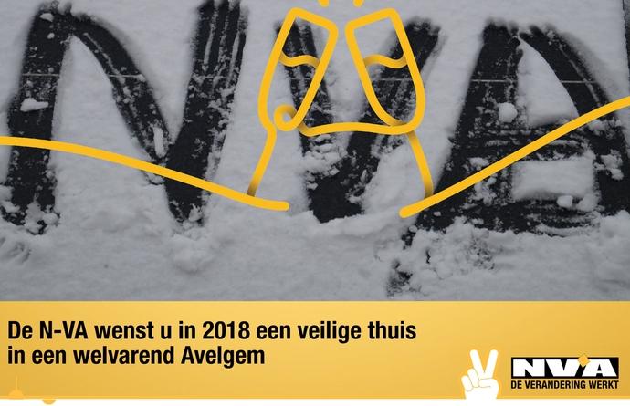 Beste wensen voor het nieuwe jaar vanwege het bestuur van N-VA Avelgem