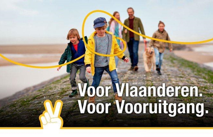 'Voor Vlaanderen, Voor Vooruitgang' is de campagneslogan waarmee de N-VA op 26 mei naar de kiezer trekt.