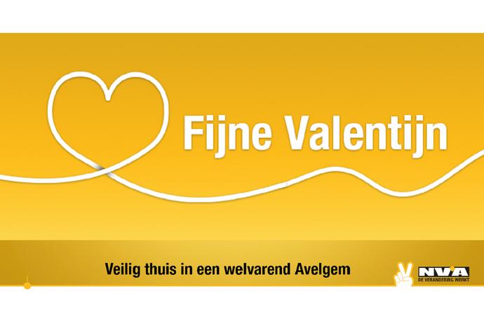 Een fijne liefdevolle valentijn toegewenst - N-VA Avelgem