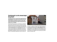 Avelgem - Containerpark na vele omzwervingen terug thuis?