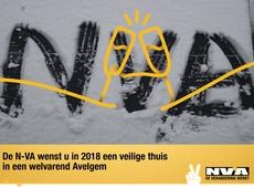 N-VA Avelgem wenst iedereen een gelukkig 2018 toe!