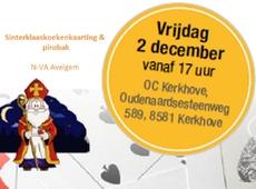 Sinterklaaskoekenkaarting en pirobak 2 dec 2016 - OC Kerkhove