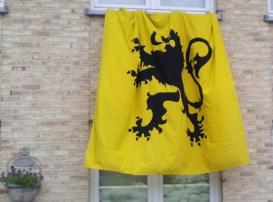 Zolang de leeuw kan klauwen ... 11 juli, Vlaamse vlag op Vlaamse feestdag