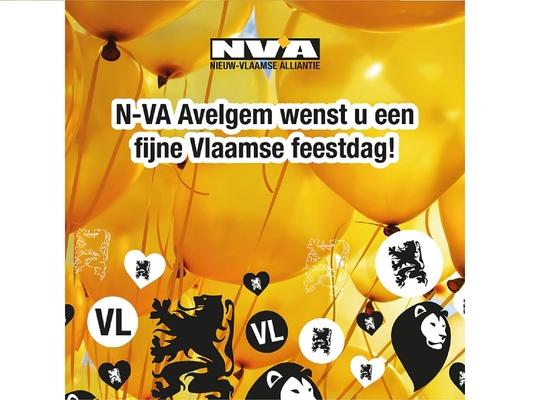 N-VA Avelgem wenst iedereen een fijne Vlaamse feestdag toe.