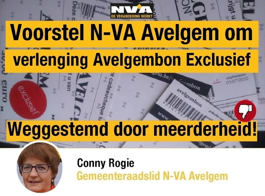 Voorstel N-VA Avelgem - Verlenging Avelgembon Exclusief verworpen