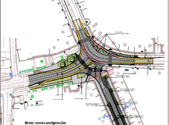 N-VA Avelgem - Heraanleg kruispunt Avelgem (bron; www.avelgem.be)