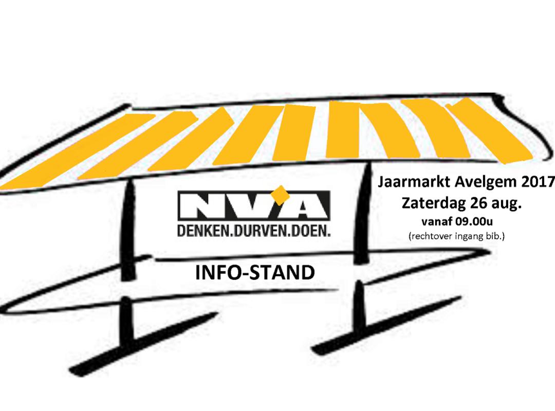 Jaarmarkt Avelgem 2017 - info-stand N-VA Avelgem