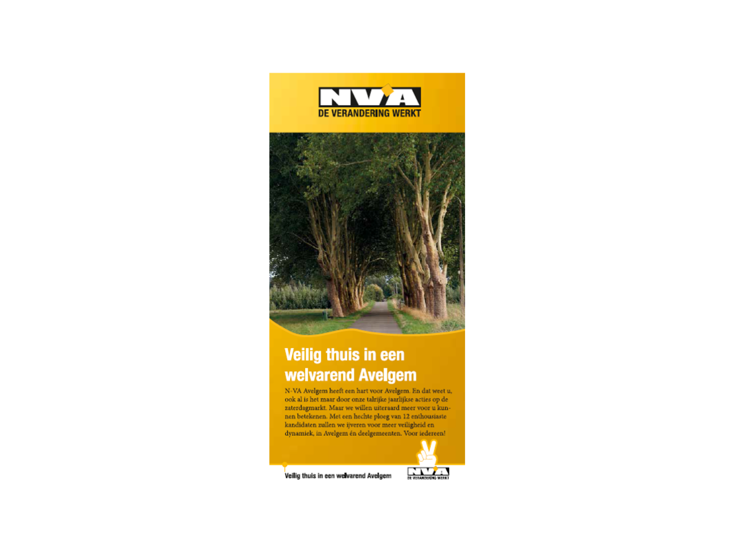 N-VA Avelgem - programma speerpunten - drieluik
