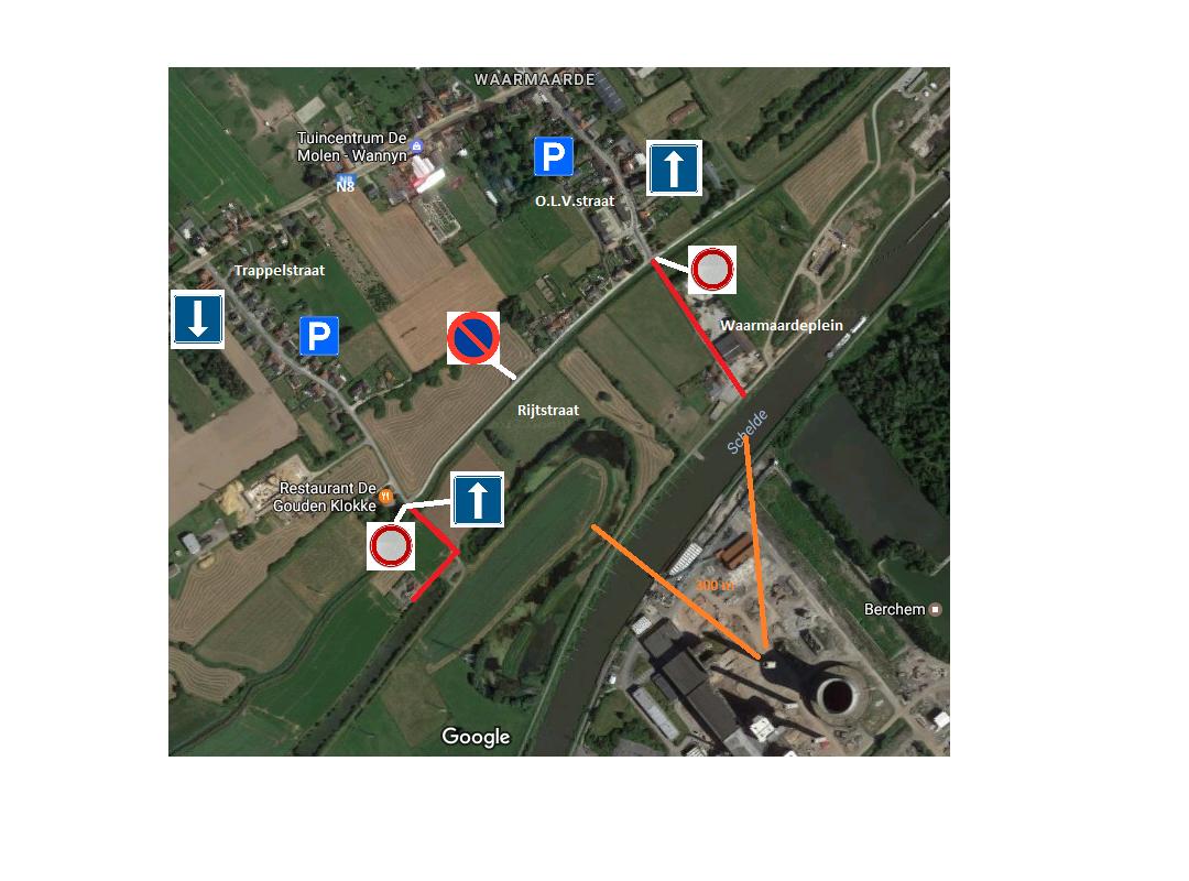 Avelgem - Verkeersmaatregelen - Afbraak Ruien