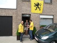 11 juli - smakelijke appelcake voor wie een Vlaamse vlag uithangt