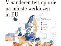 Vlaanderen telt op drie na minste werklozen in EU