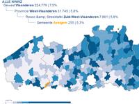 Avelgem - Werkloosheidsgraad 2016